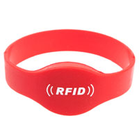 NS01 Oval head RFID silicone wristband