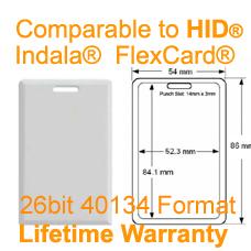 New 10 x Indala FlexKey Keytag under Sentex format
