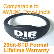 proximity wristband awid 26bit compatible