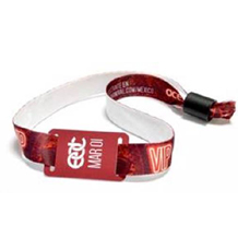 SINGLE-USE Fabric RFID Contactless Wristband for music festival