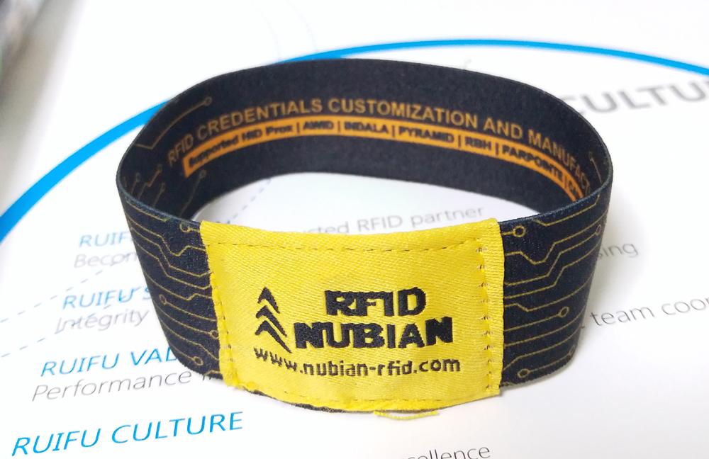 NF03 Elastic Fabric RFID Bracelet_Nubian-rfid